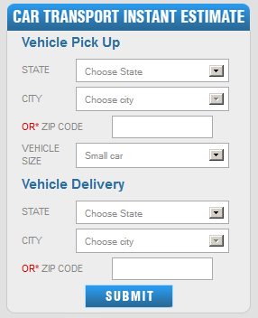 Auto Transport Online Calculator